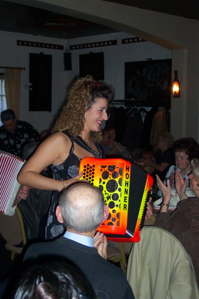 Dorothée LHOIR avec le public